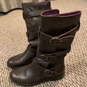 Shoes - Brown leather boots size 6 1/2